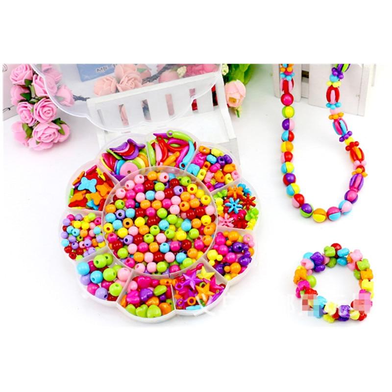 300pcs/lot Plastic DIY Bracelet Toys, Acrylic Bead Kit Accessories ...