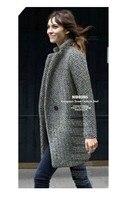 бесплатная доставка большой ярдов с-XXXL осенняя с длинным рукавом и ППШ женщины грудь теплые зимние пальто