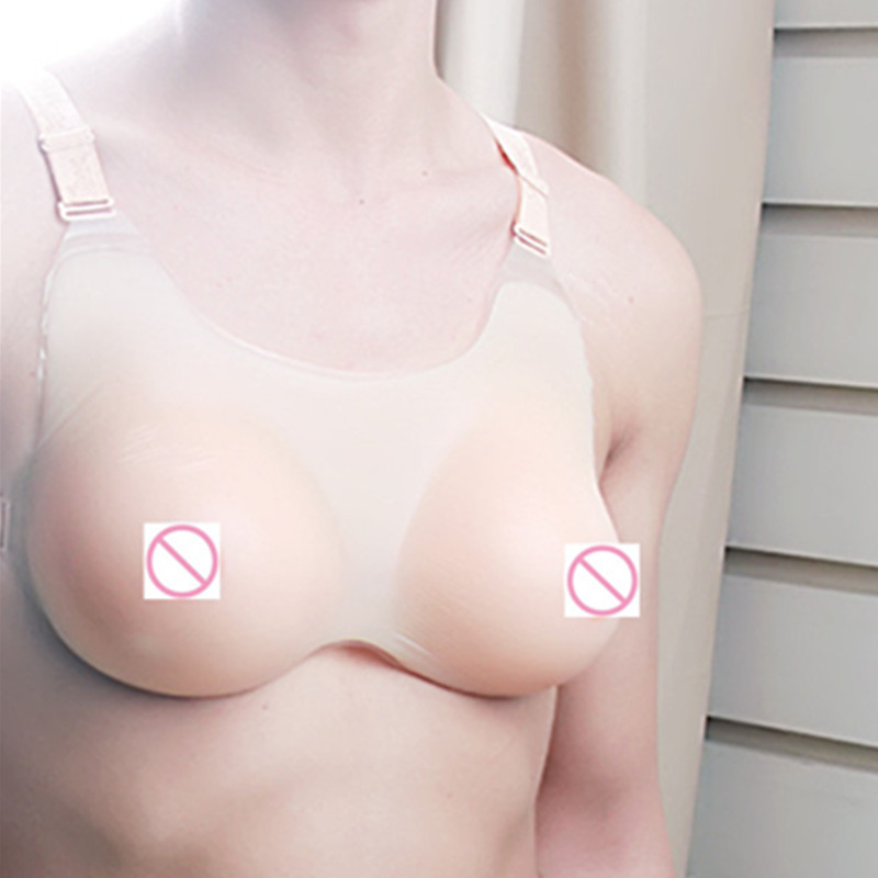 1000g/piece E/F Cup Silicone Bra For Men Realistic Silicone Breast Forms Crossdresser Cosplay Being Sexy Beauty False Breasts [sv 3]top realistic silicone breast forms artificial breasts crossdresser party bra movie props