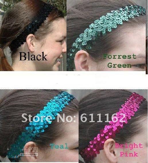 """Разноцветные 200 шт """" обруч с бантом детские повязки для девочек стрейч застежка-молния зеленый"""