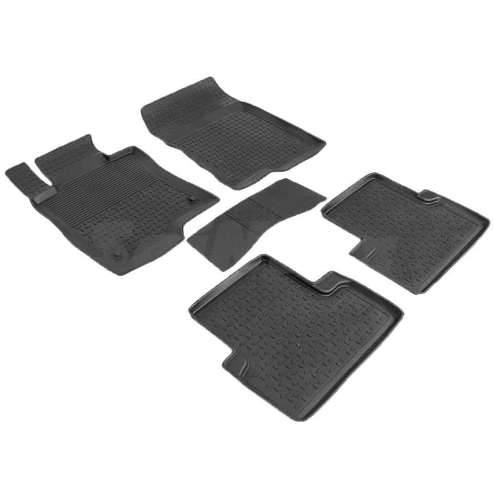 Rubber floor mats for Honda Accord VIII 2008 2009 2010 2011 2012  Seintex 86251 rubber grid floor mats for honda accord viii 2008 2009 2010 2011 2012 seintex 00758