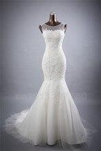 Bridal Wedding Gown Real Photos White Lace Mermaid Wedding Dress 2017 Vintage Bride Dress vestido De