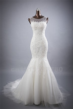 Bridal Wedding Gown Real Photos White Lace Mermaid Wedding Dress 2016 Vintage Bride Dress vestido De noiva