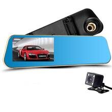 Hindly Cámara de Visión Nocturna Coche Dvr Coche Espejo Retrovisor Grabador de Vídeo Digital Videocámara Registrator FHD 1080 P Dvr Dash Auto Cam