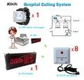 Проводная система вызова медсестры для больниц K-336 большой монитор + K-300plus наручные часы пейджер + кнопка K-W1-P