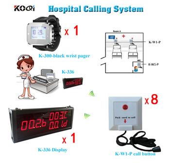 Wired Nurse Call System For Hospital K-336 Big Monitor + K-300plus Wrist Pager Watch + K-W1-P Button
