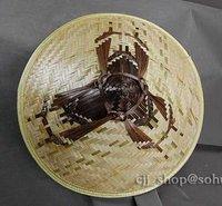 китайский мужчины и женщины бамбук шляпа, для рыбалки кепка