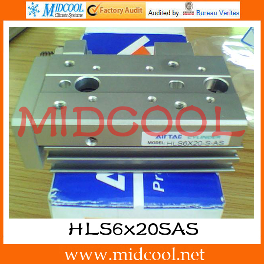 Original AirTAC Compact slide cylinder(Roller bearing) HLS Series HLS6x20SAS original airtac compact cylinder ace series ace100x30