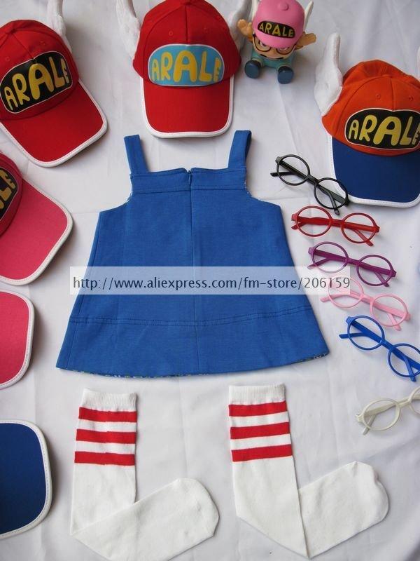 Carino Dr. Slump Arale Chan Cosplay Costume Con Le Ali di Angelo Del ... bbc656a5919a
