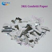 3kg Lot Tissue Confetti Paper Rectangle Silver Confetti For CO2 Jet Confetti Machine