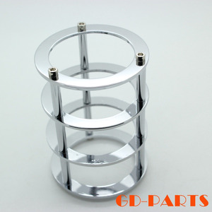 GD-PARTS 1PC Chrome/Gold Plated Brass Vacuum Tube Guard Protector for EL34 300B 12AX7 6V6 6L6 Hifi Vintage AUDIO Amplifier DIY(China)