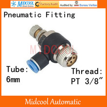 Quick connector SC6-03 thread PT 3/8 inch 6mm hose fittings pneumatic components,air fitting connector