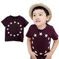 Infantil Chicos Estrellas Surround Impreso de Manga Corta T-shirt Tops Ropa 2-7Y Del Bebé Para El Muchacho