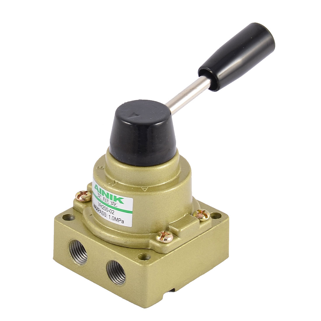 ФОТО UXCELL Product Keywords 1/4 Bsp Center Closed 3 Positions 3 Ports Manual Hand Lever Pneumatic Valve
