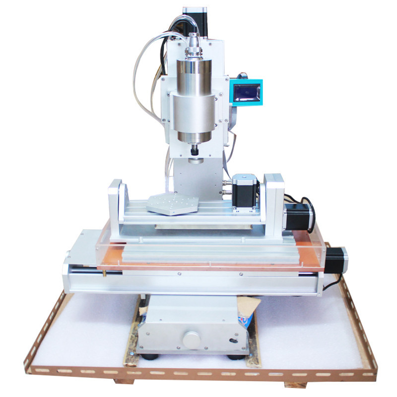 Free shipping  CNC Router 5 Axis CNC Machine, Drilling Milling Machine High-Precision Ball Screw Table Column Type  free dhl ft high speed 3 axis 800w affordable cnc router with parellel port precision drilling machine for woodworking 6090