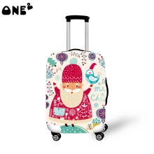 2016ONE2 santa claus pattern modern stylish travel luggage cover cool pattern good quality 22,24,26 inch for suitcase student