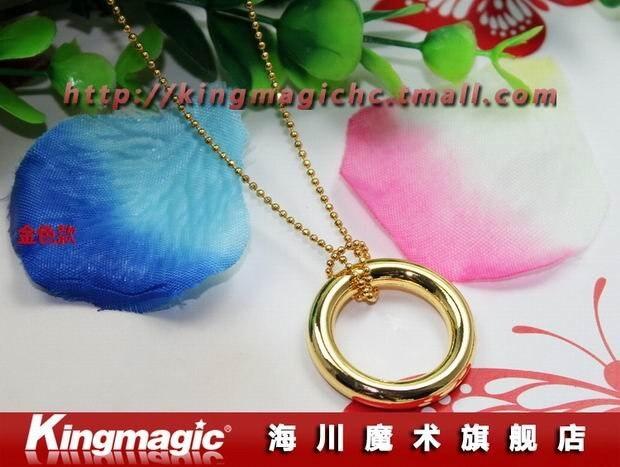 10 шт./лот магический круг Magic Цепочки и ожерелья Chain& фиксатора кольца Волшебные трюки реквизит Игрушечные лошадки kingmagic