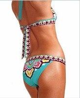 новый euramerican стиль сексуальный бикини национальный печать купальный костюм w014 и
