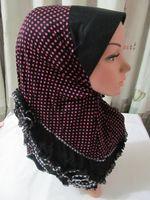 2-шт светит исламский платок с черным бриллиантом в различных цветах для каждого десятка, арабские шарф исламских хиджабов ms122802