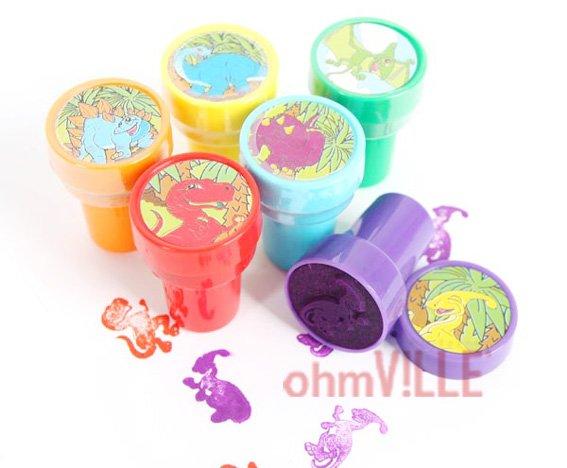 Динозавр Марки(398a6g9k) Прекрасные Игрушки Stampers Для Детского Кресла Материал~ Гарантировано Качество