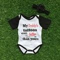 Детские девочек комбинезон младенческой малыша девушки ползунки моего отца татуировки лучше, чем ваш ползунки с оголовьем