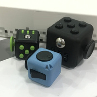 2017 Desk Toy Mini Cube Relieves Anxiety and Stress Juguete For Adults Squeeze Fun Fidget Cube Desk Spin Toys