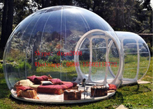 0.8mm PVC Outdoor Single Tunnel Inflatable Bubble Camping Tent with Blower/backyard bubble tent