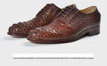 Designer Men's Shoes Men Brown Shoe male popular shoes crozzling Deodorization Breathable 2017-1Brown
