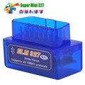 O mais baixo Preço Super Mini Bluetooth ELM327 OBD2 Scanner ELM 327 bluetooth obd2 Para Multi-marcas Mais Recente Versão V2.1 elm327