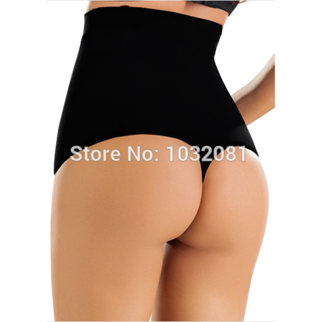 2015 steel boned post-partum Women underwear Seamless Mid Waist Thong Shaper waist cincher tummy Control panties pant Butt E51