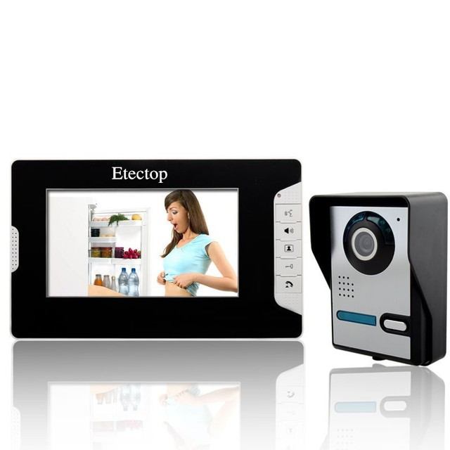 4 wires 7 TFT monitor analog color camera Handfree intercom practical door phone doorbell easy installation_640x640 aliexpress com buy 4 wires 7\