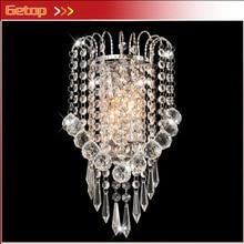 купить ZX Hot Sale K9 Crystal Stainless Steel E14 LED Wall Lamp for Bedside Hotel Bedroom Staircase Sitting Room Corridor Lamp по цене 4038.13 рублей