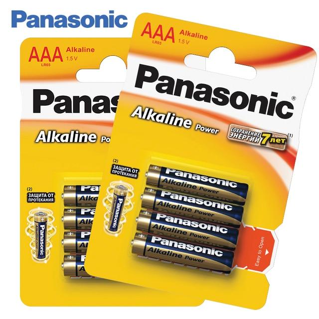 Panasonic LR03REB/4BPR Щелочные батарейки 8 штук Alkaline Power AAА 1.5 В, Защита от протекания, Сохранение энергии в течение 7 лет