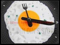 100% гарантия репутация. горячая распродажа творческий настенные часы яичница сковорода в форме часы различных цветов на выбор. бесплатная доставка