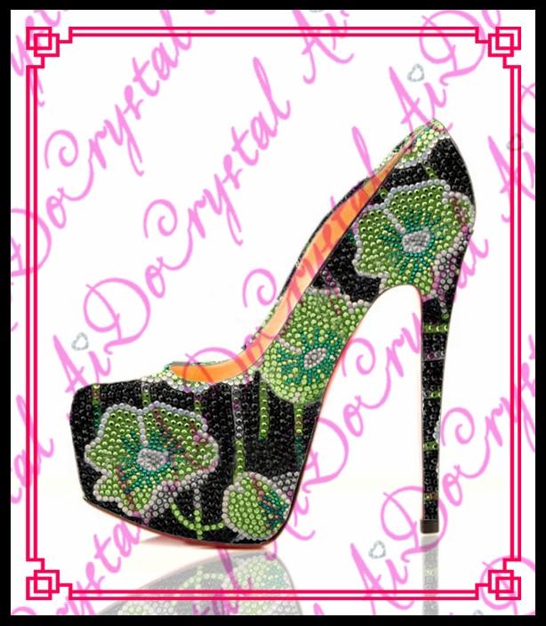 Aidocrystal 2016 handmade green flower pattern black crystal platform high heels classic women dress shoes free shipping jmt 5 8g fpv transmission integrated osd 2020mm innova adjustable 25mw 200mw vtx output for piko blx flight controller f19761