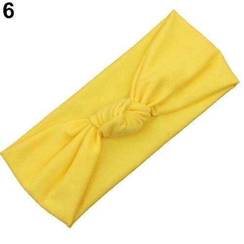 Детская повязка на голову для маленьких девочек узел Удобные Hairband Тюрбан Головные уборы