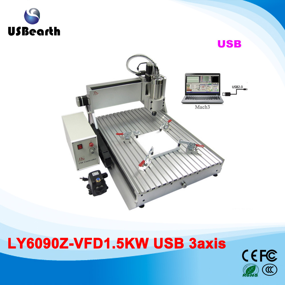 Russia free tax cnc router 6090 High precision wood/mdf/acrylic cnc router 6090 with usb port eur free tax cnc router 4030z d300 3axis wood cnc milling machine for cutting wood acrylics mdf with usb parallel adapter