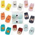 Algodão 8 Cores Pequenas Meias Infantis Orelhas Pequenas Meias de Algodão Dos Desenhos Animados Socks Para os Bebés/Meninos