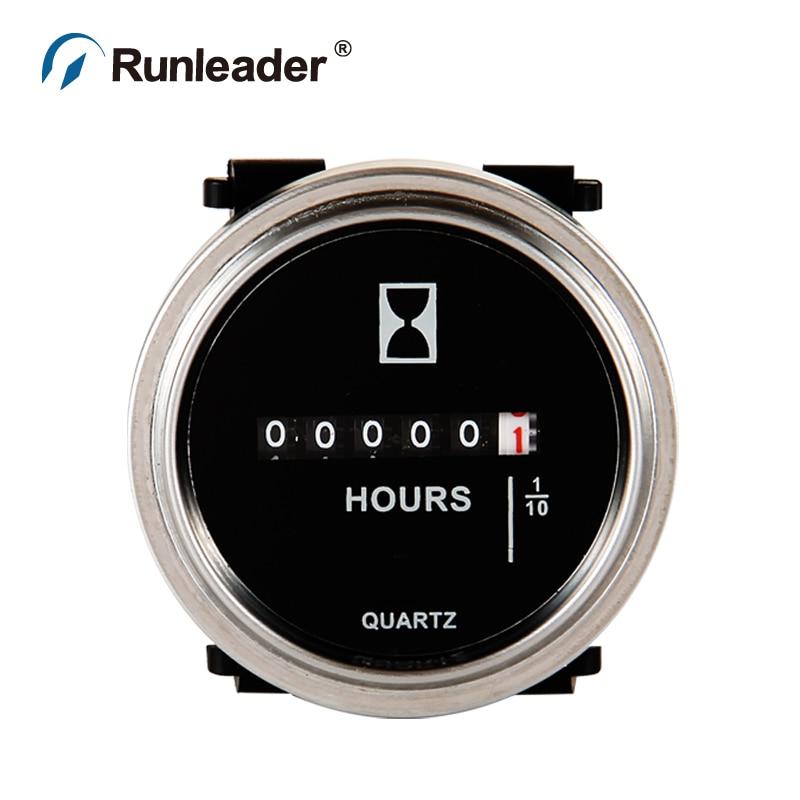 Runleader DC 6-80V круглый счетчик часов для вилочного погрузчика морской Мотокросс генератор сельскохозяйственная техника очиститель дизельный бензиновый двигатель