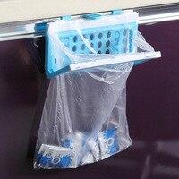 Creative sac à ordures Hanger de rangement en plastique crochets pour des articles divers de cuisine organisateur Space Saver cuisine Accessaries crochet 2016 nouvelle