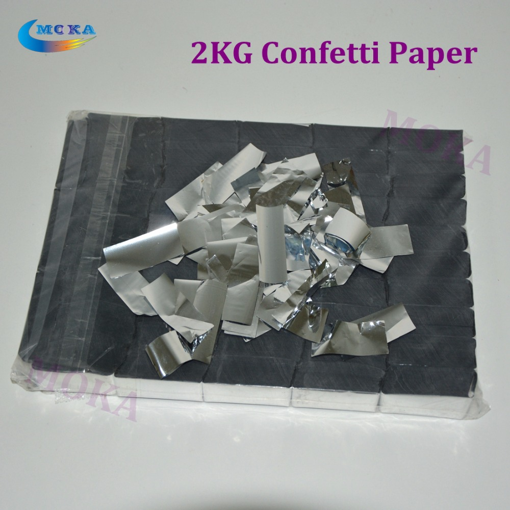 2KG/LOT silver color Confetti paper Confetti cannon machine Of Party Or Wedding Event fast ship 2pc lot high quality paper confetti machin shooter launcher for wedding disco dj party event decoration