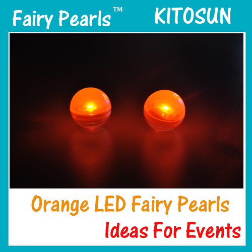 Orange Fairy Pearls