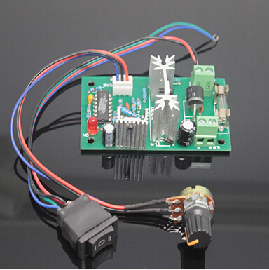 US $24 86 |12V24V DC motor speed controller 120W motor reversing dual  control shift switch electronic regulator-in Motor Controller from Home