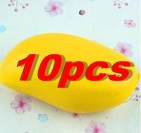 10 PCS Lot Hot Colossal 12CM Kawaii Cute Squishy Jumbo Yellow Mango Slow Rising Kid Baby