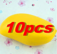10 PCS Lot Hot Colossal 12CM Kawaii Cute Squishy Jumbo Yellow Mango Slow Rising Kid Baby