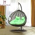 Columpio silla Cany para el jardín sillas dobles sofás de mimbre rattan mimbre silla columpio cesta colgante precio venta al por mayor superventas