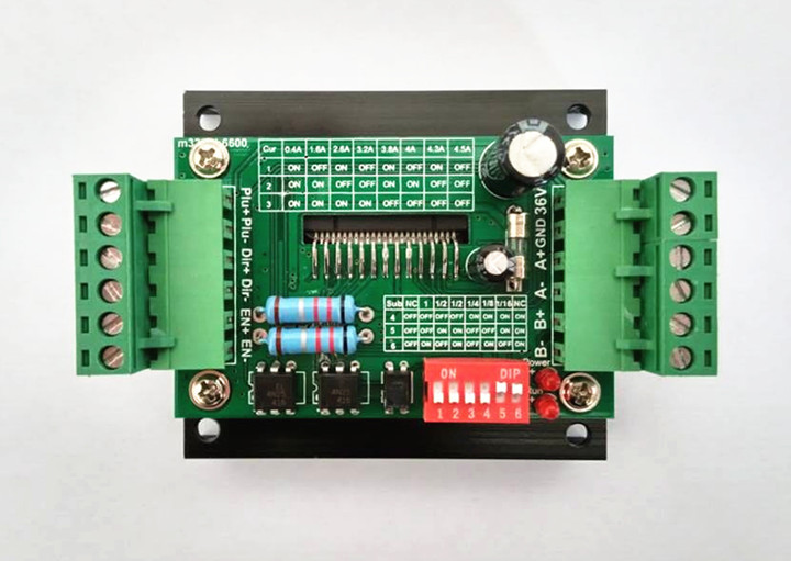Free Shipping 4PCS x TB6600 4.5 A stepping motor drive 12-36 v power supply