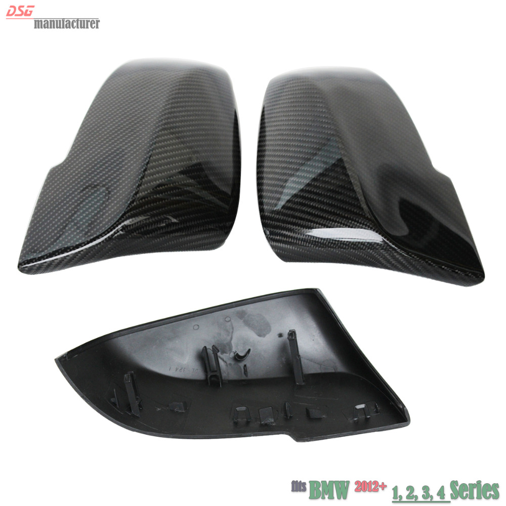 F30 carbon fiber replacement rearview door side wing mirror cover cpas for BMW F31 GT F34 F20 F21 F23 F32 F33 F36 X1 E84 m style carbon mirror cover for bmw 1 2 3 4 x serie f20 f21 f22 f23 f30 f31 f32 f33 f36 x1 e84 m3 m4 look replacement