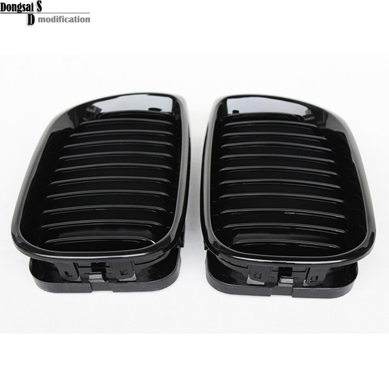 3 series e46 front kidney grille car styling grill For BMW 2002-2004 E46 4-door sedan 5-door hatchback 330i 2016 new a pair front grilles left and right double line grille gloss black front grills for bmw 3 series e46 2002 2004 4 door