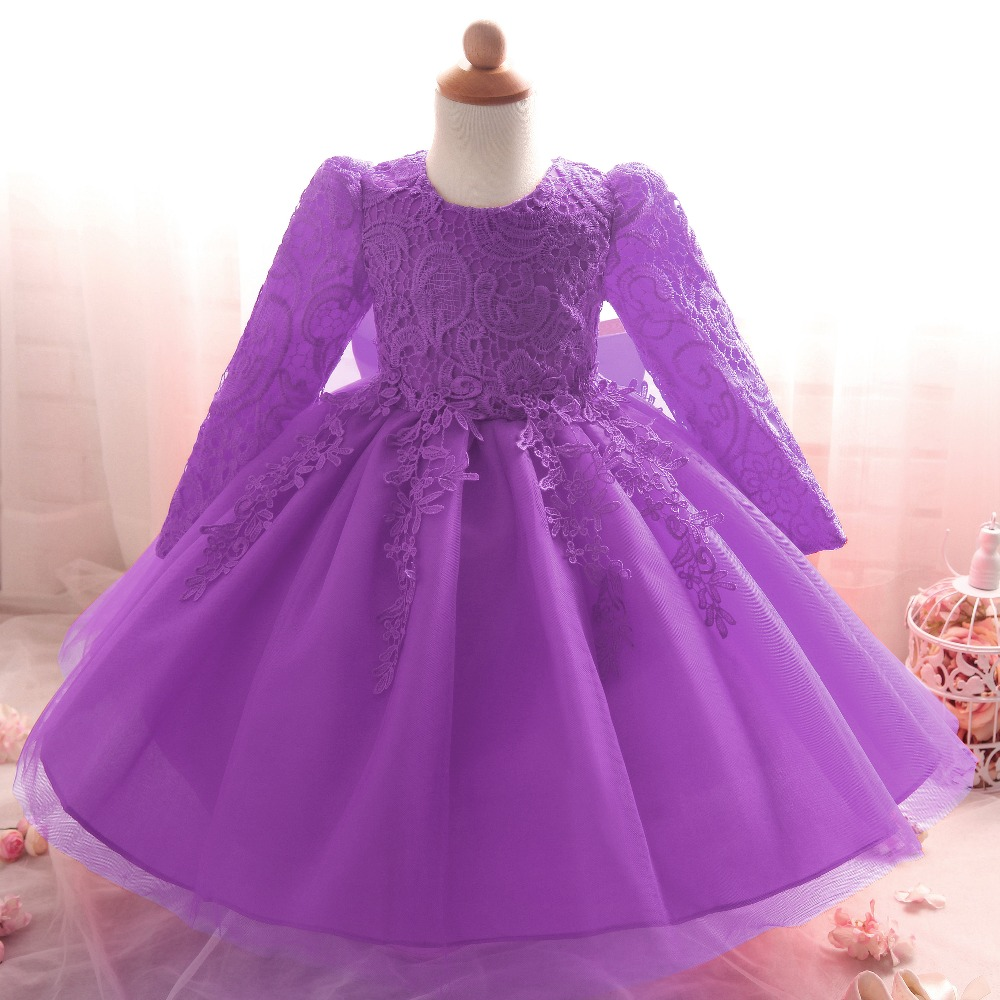 Flower Baby Girl Infant Dress Wedding Princess Girls Dresses 1 Year Birthday Kids Clothing Newborn Party Tutu Clothes In From Mother